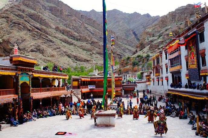 Festivals of India, Ladakh festival, Hemis Festival, mask dance performance in Ladakh