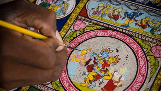 Raghurajpur patachitra paintings, Orissa rural tourism, cultural destinations in India