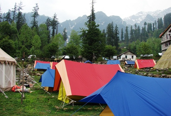 camping in kullu manali, best campsites in himachal, himalayas tours