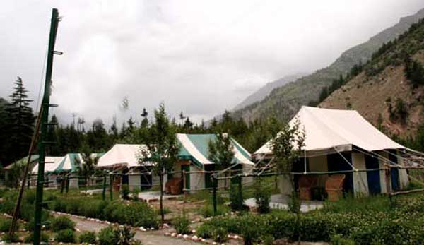 hill stations of himachal pradesh, summer tourist destinations in himalayas, camping in sangla valley