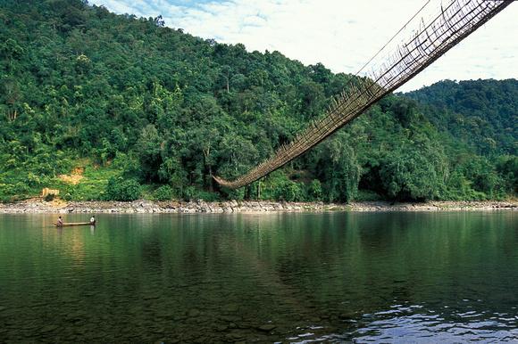 hanging bridges in arunachal pradesh, India travel adventure