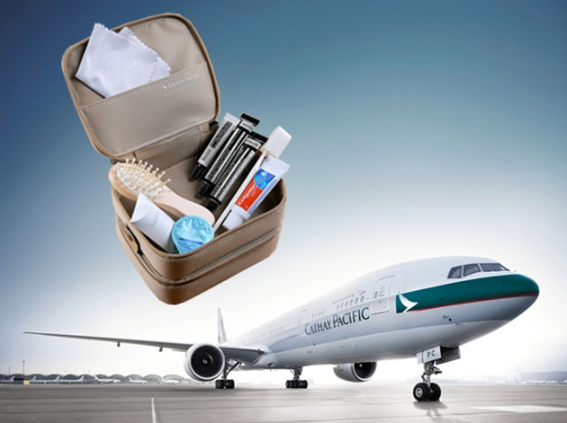 Cathay Pacific's inflight services, Cathay Pacific news, cheap flights on IndianEagle, new amenity kits for first class
