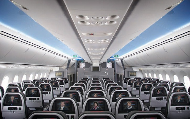 American Airlines' Main Cabin, American Airlines' B787 Dreamliner
