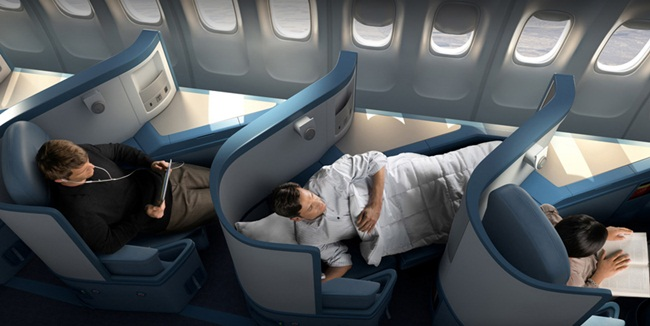 Delta Airlines' BusinessElite, Delta's five fare options, Delta Air Lines' cabin interiors