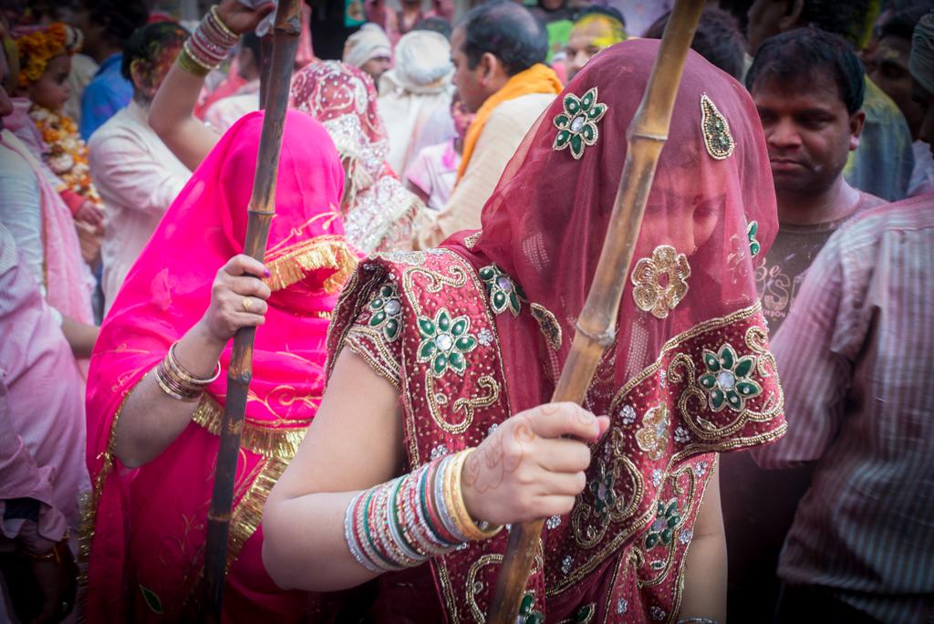 Barsana lath mar holi, holi in North India, women of Barsana village, IndianEagle blog