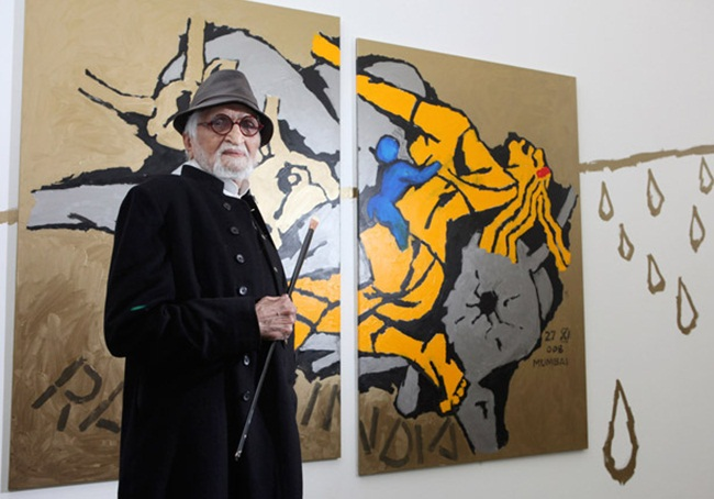 New york city events, Aicon Gallery NYC exhibitions, MF Husain Paintings, News for NRIs