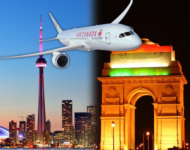 Air Canada, Toronto to New Delhi flights, Air Canada baggage allowance, USA to India flights, Air Canada cheap flights, IndianEagle travel