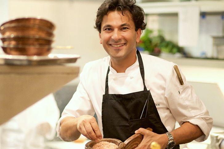 Chef Vikas Khanna, Indian American chefs, Vikas Khanna cookbooks, popular food documentaries, Indian restaurants in New york
