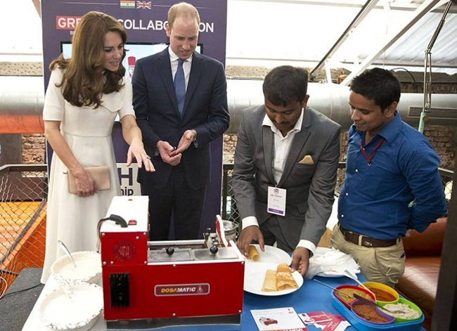 Prince William, Kate Middleton, South Indian dosa, Indian food, dosa varieties, DosaMatic invention, Bangalore