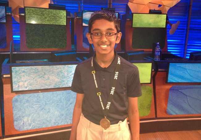 Rishi Nair of Florida, 2016 national geographic bee winners, Indian American students, Washington DC