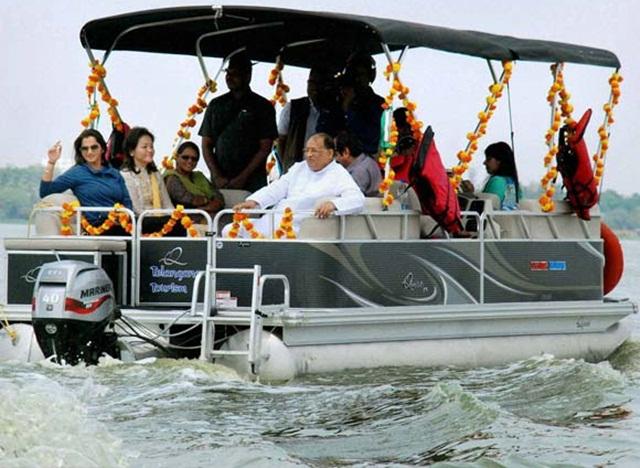 Hyderabad Hussain Sagar Offers Luxury Yacht Rides
