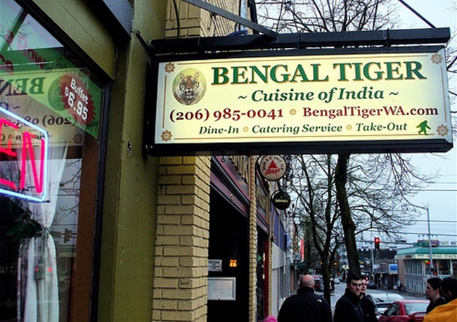 Bengal Tiger Seattle Indian Restaurants