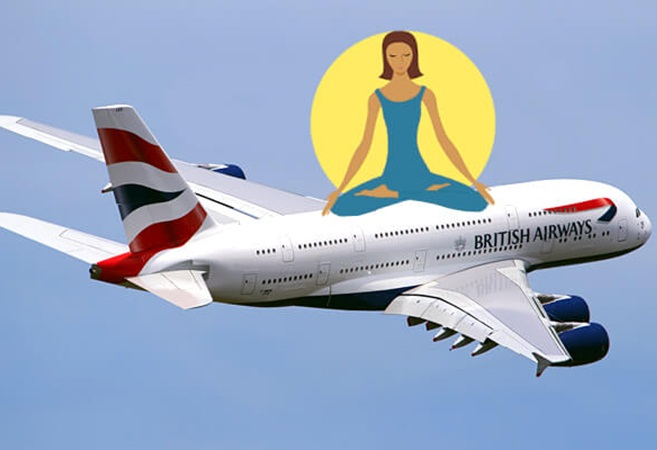 British Airways flights, British airways news, air travel tips, meditation in plane