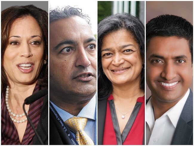 US Election 2016, Indian Americans in US Congress, Ami Bera, Kamala Harris, Pramila Jayapal, Ro Khanna, Raja Krishnamoorthi, Indians in USA