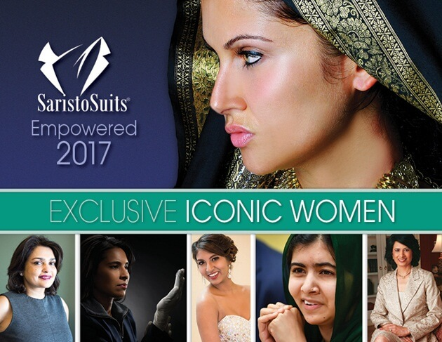 Women in Patti Tripathi's Saris to Suits Calendar 2017 edition