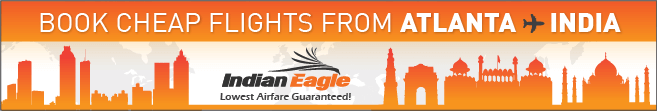 Indian Eagle cheap flights, Atlanta to India cheap flights
