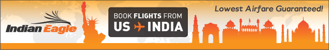Indian Eagle travel booking, cheap flights to India, USA to India cheap air tickets