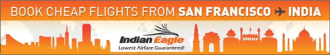 cheap flights from SFO to India, Indian Eagle travel, US-India cheap fares