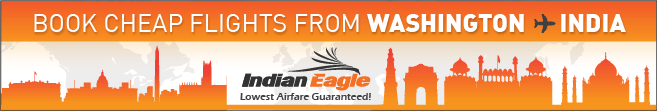 Indian Eagle travel, cheap flights to India, Washington to India fare deals