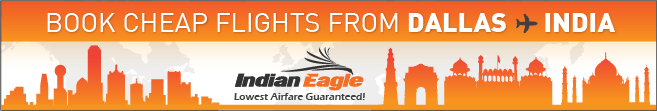 Dallas to India flights, Indian Eagle travel deals, cheap fares from Texas to India
