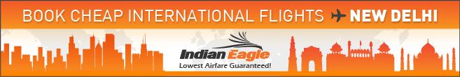 cheap flights to Delhi, US to Delhi cheap airfares, Indian Eagle Travel deals