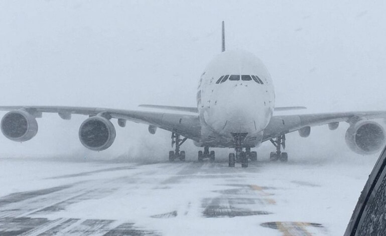 bomb cyclone Northeast USA, travel waivers, Indian Eagle travel news, US airlines news