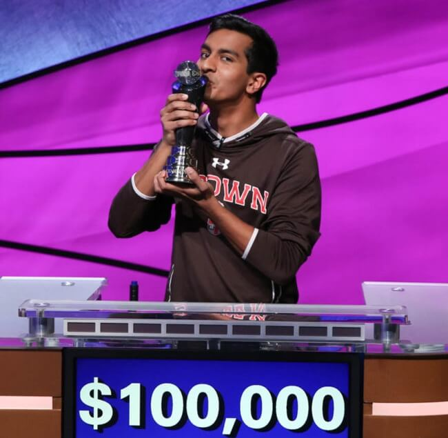 brown university Dhruv Gaur, Jeopardy college championship 2018, Dhruv Gaur Georgia Indians