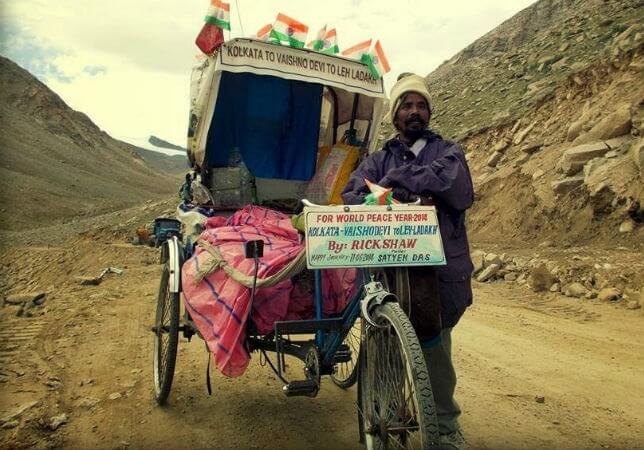 Satyen Das rickshawala, Ladakh Chale Rickshawala documentary, Ladakh travel stories, Kolkata to Ladakh
