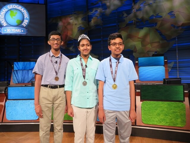 2018 National Geographic Bee winners, Venkat Ranjan California, National Geographic Bee Indian American winners