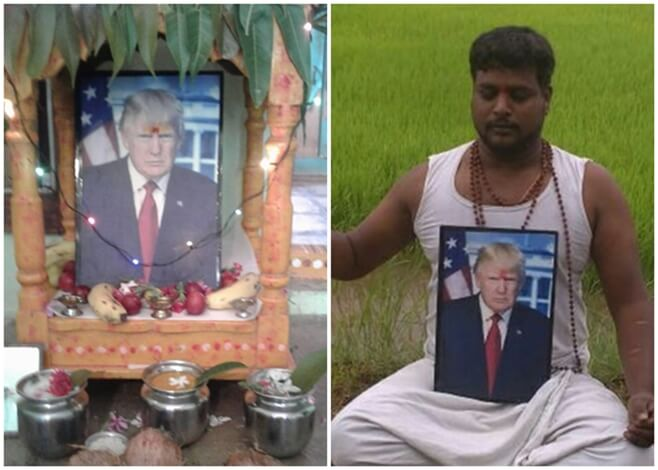 Donald Trump worship India, Telangana farmer Trump fan, Trump fans in India, Incredible India
