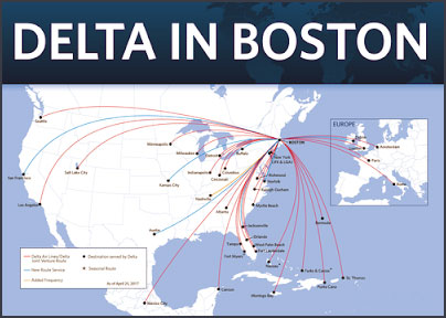 Delta Airlines' New Flights from Boston