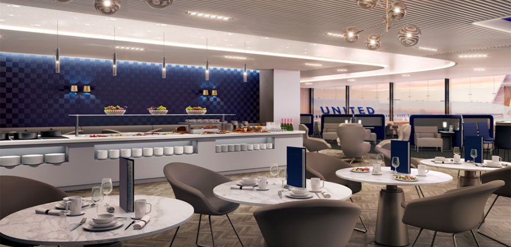 United Polaris Lounge at Newark